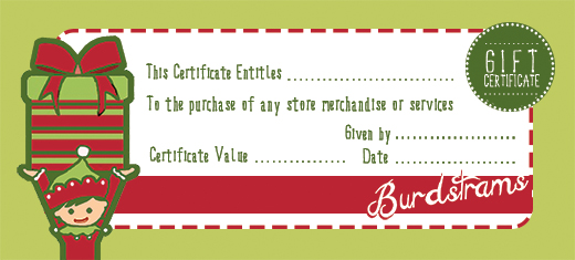 Printable Gift Certificates Free Template