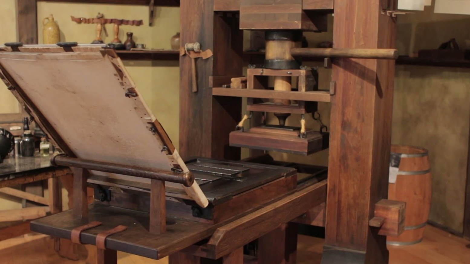 Pictures of the printing press Johann Gutenberg and the Amazing Printing Press