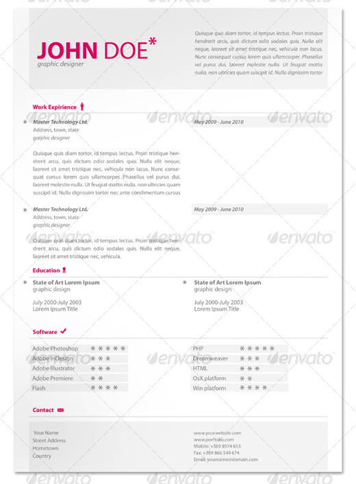 Creative Cheap Resume Templates - Stand out resume templates free