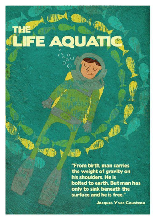 the life aquatic movie poster