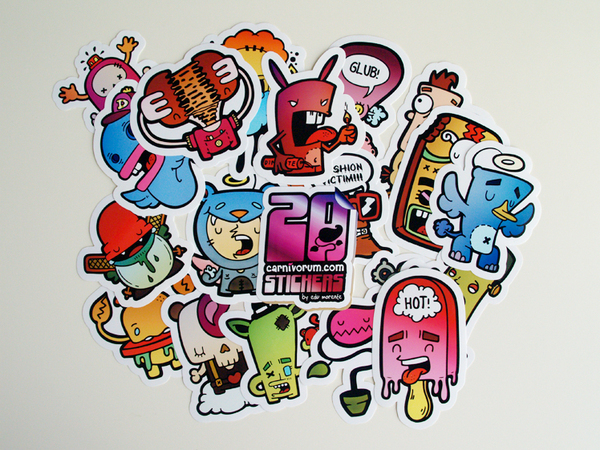 Cute and cool character design stickers