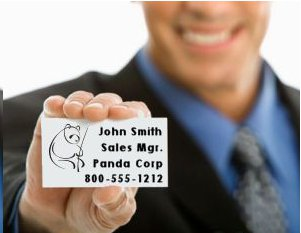 word business card