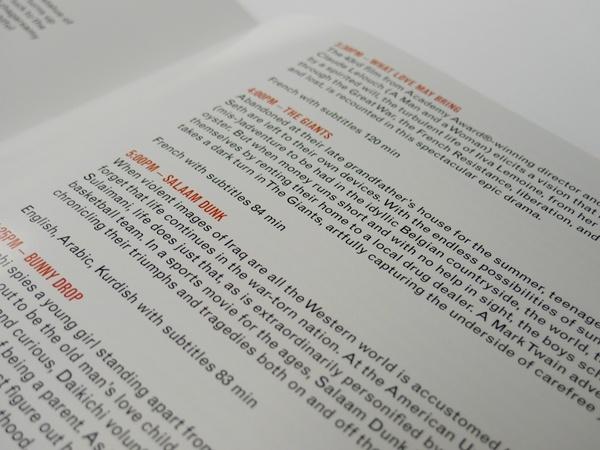 film festival booklet