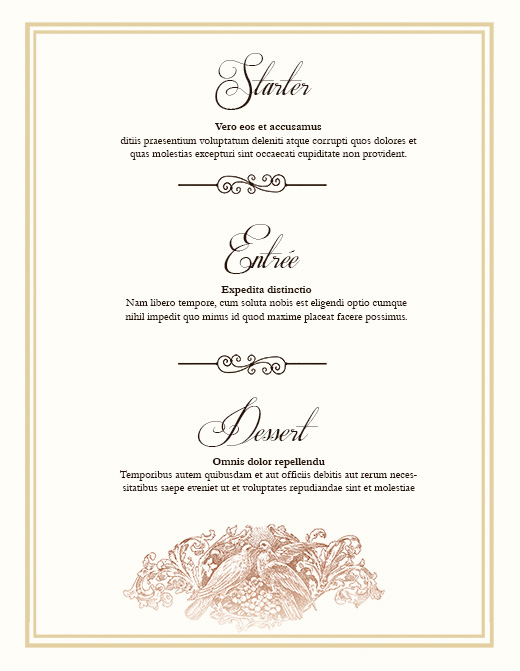 free wedding menu design photoshop templates nextdayflyers