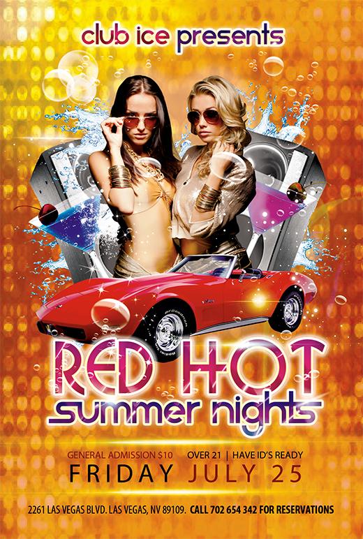 Free hot summer photoshop party flyer templates nextdayflyers summerflyer1template saigontimesfo