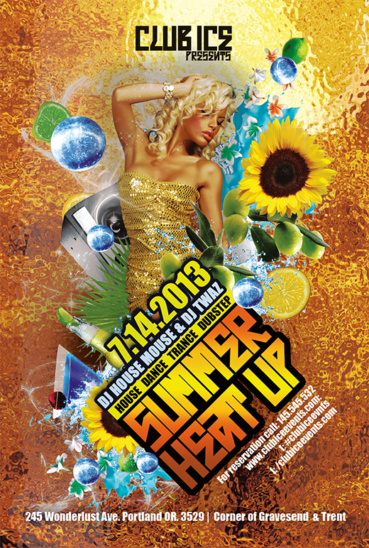 Free Hot Summer Photoshop Party Flyer Templates Nextdayflyers