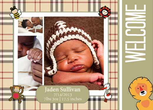 baby announcements templates free