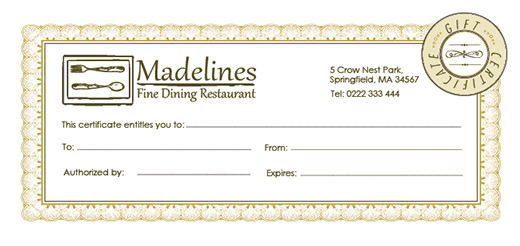 Free holiday gift certificate templates in photoshop and vector restaurantgiftcertificate yelopaper Image collections