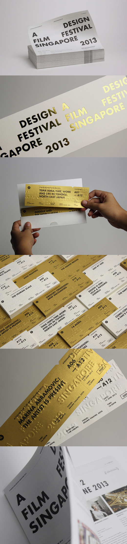 festival ticket design