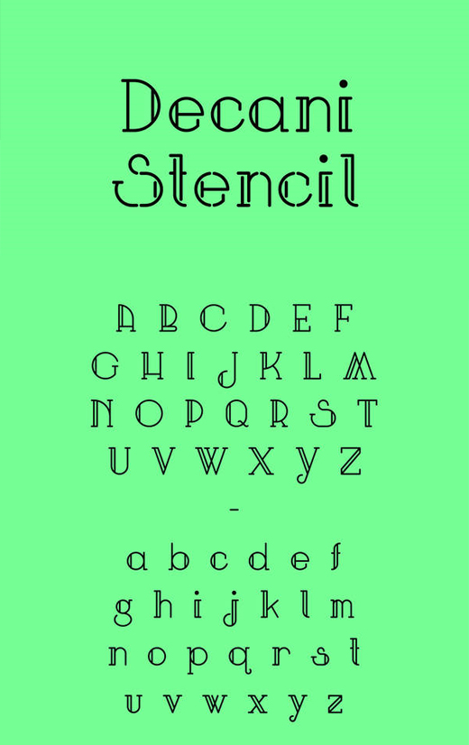 free art deco font 14