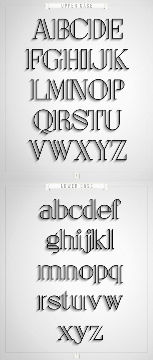 free art deco font 9