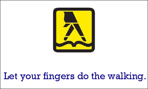 yellow pages let your fingers do the walking