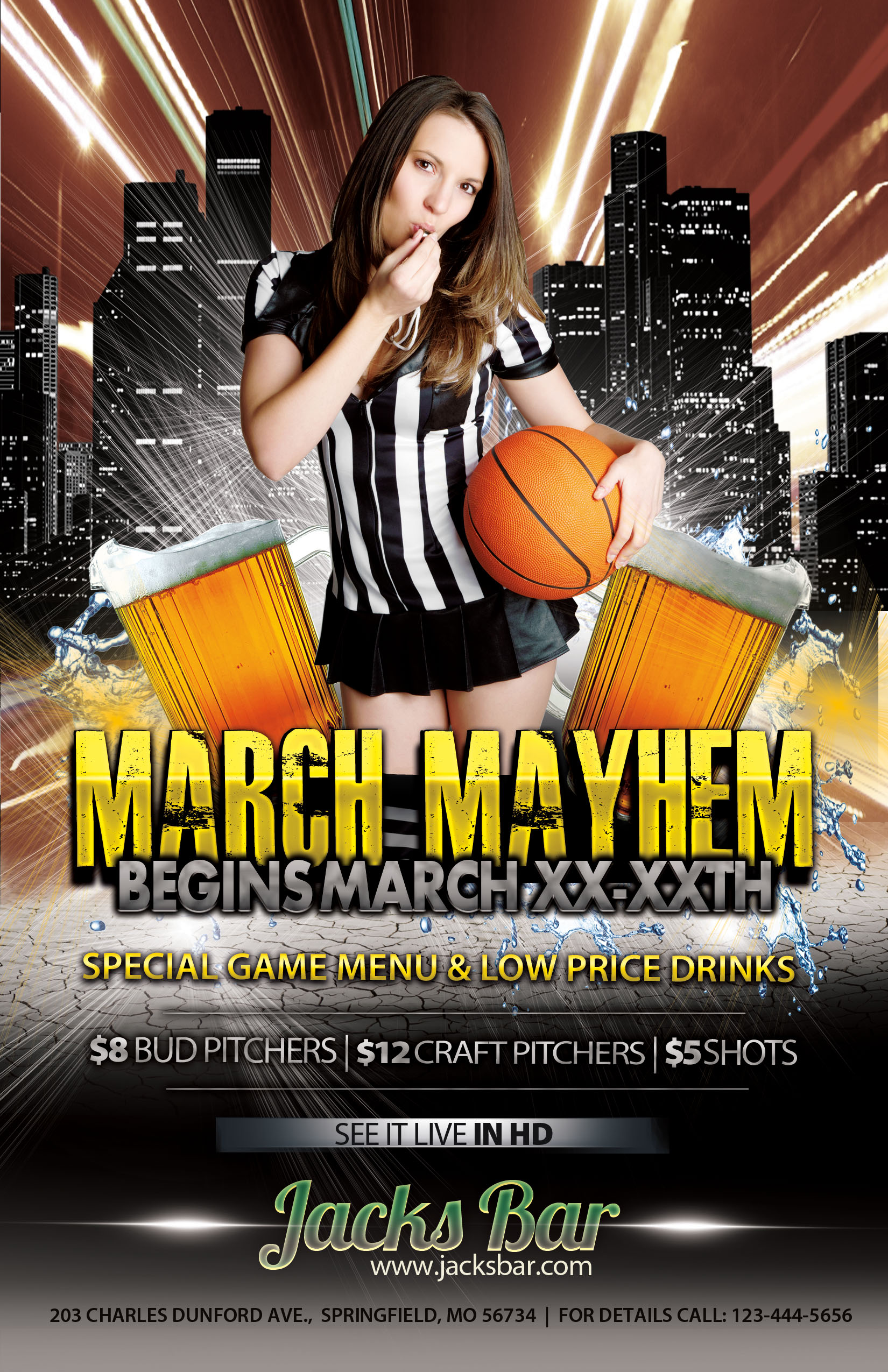 NCAA Basketball Tournament Flyer Template