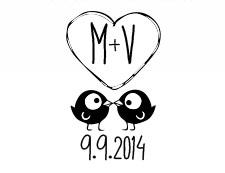 free cute wedding monogram design