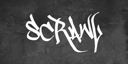free scrawl font