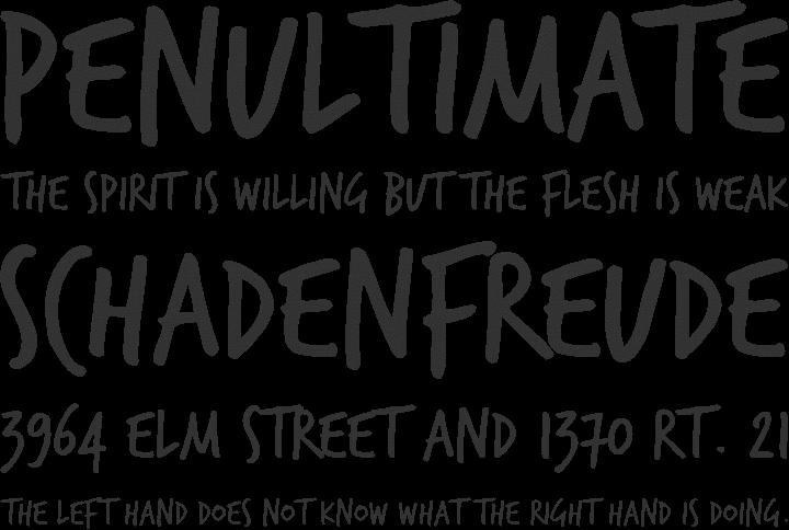 trashhand free font