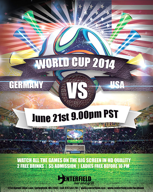 free 2014 world cup templates make your own postcard or flyers for