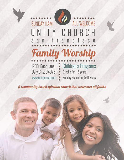 free photoshop church flyer
