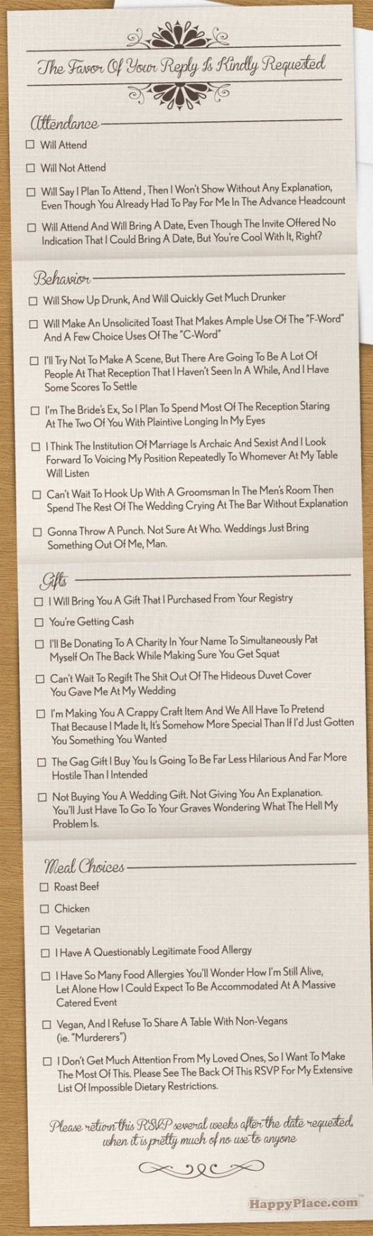 20 Ideas for Funny Wedding Invitations to Take the Stuffiness Out of ...