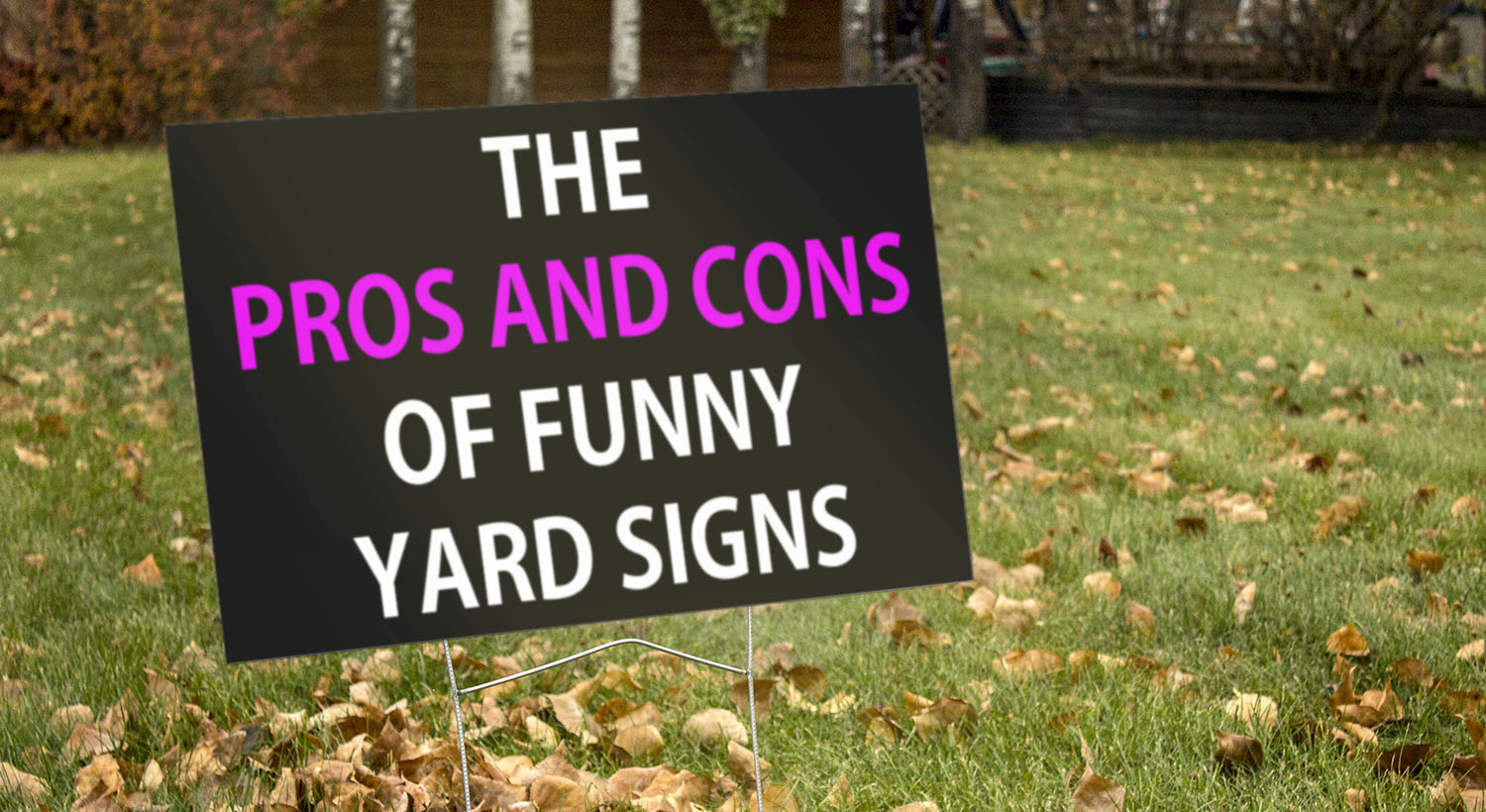 Pros and Cons of Funny Signs