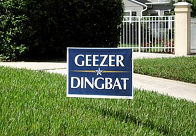 funny lawn sign