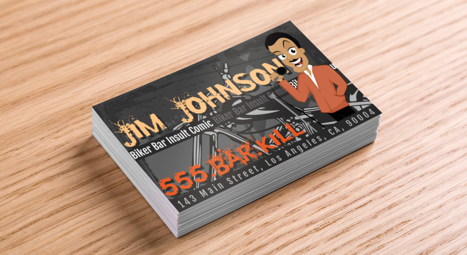 Insult comic business card