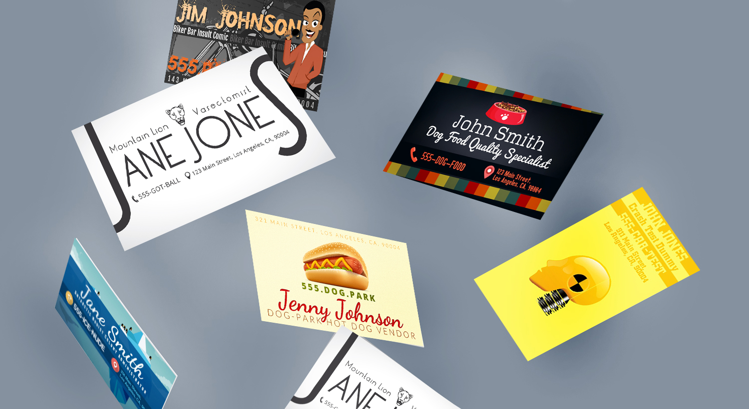 Printed Business Cards for the Worst Jobs Ever
