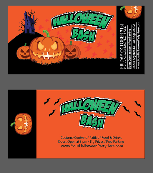 halloween vector tickets template