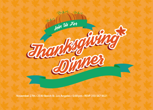 thanksgiving vector template