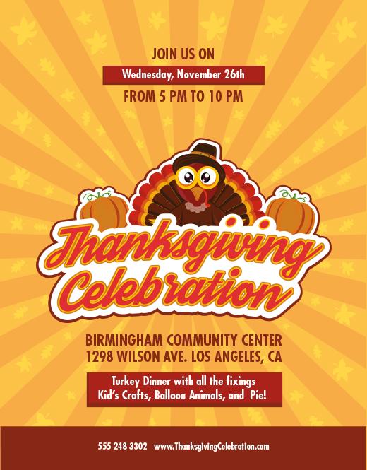 thanksgiving flyer