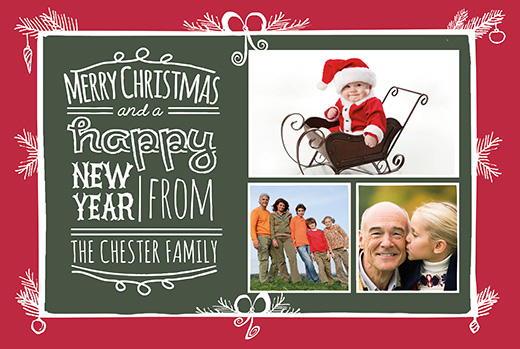 christmas photo card template - Photoshop Christmas Card Templates