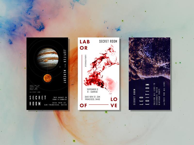 flyer designs by Grace Ho