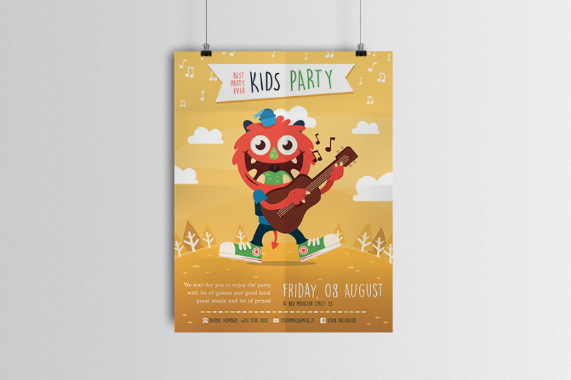 kids party flyer by Manuel Corsi