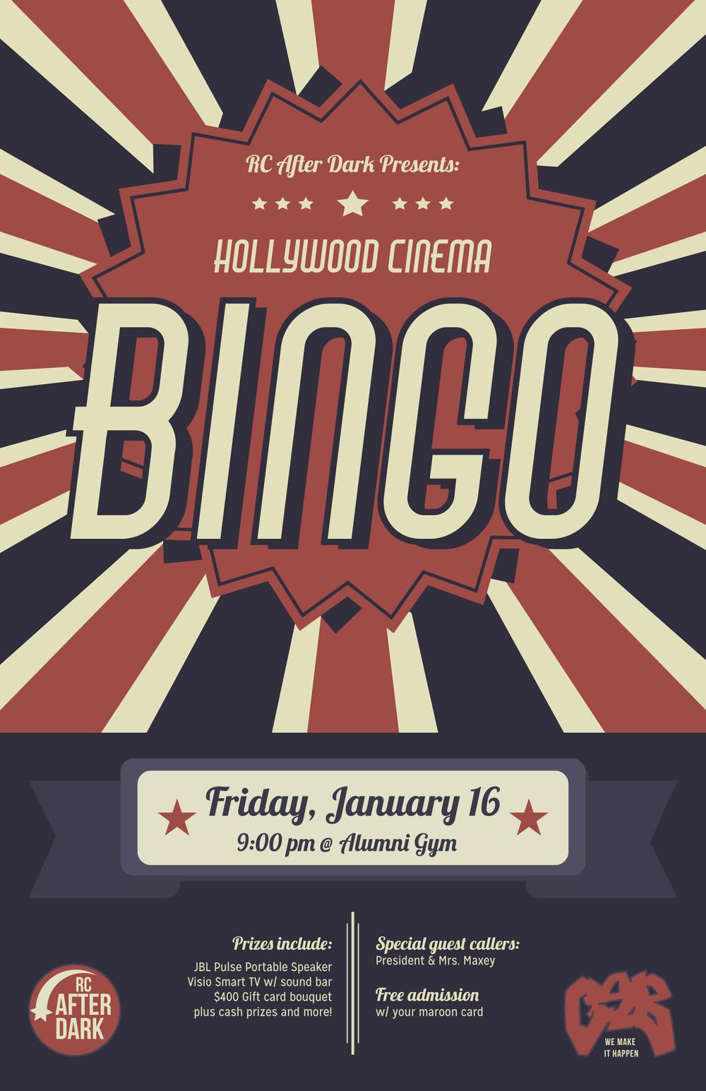 vintage bingo flyer by Sarah Vogl