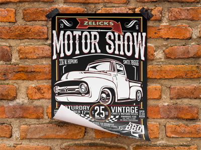 car show flyer by Christian Cisneros