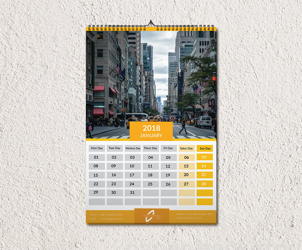 Calendar Typography Xp : Creative calendar designs for your inspiration