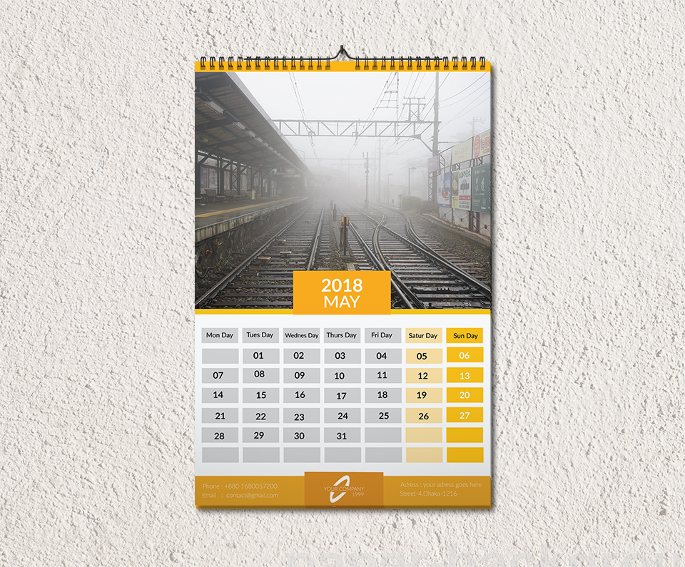 Wall Calendar 2018 by Abu Sayed