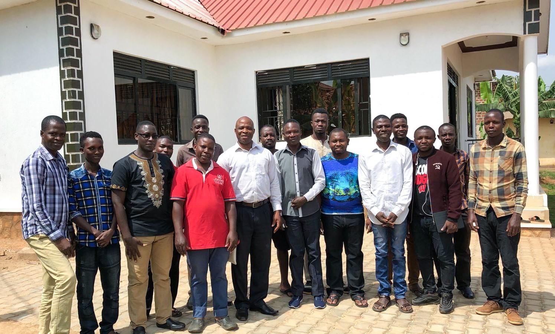 Recording team in Uganda.