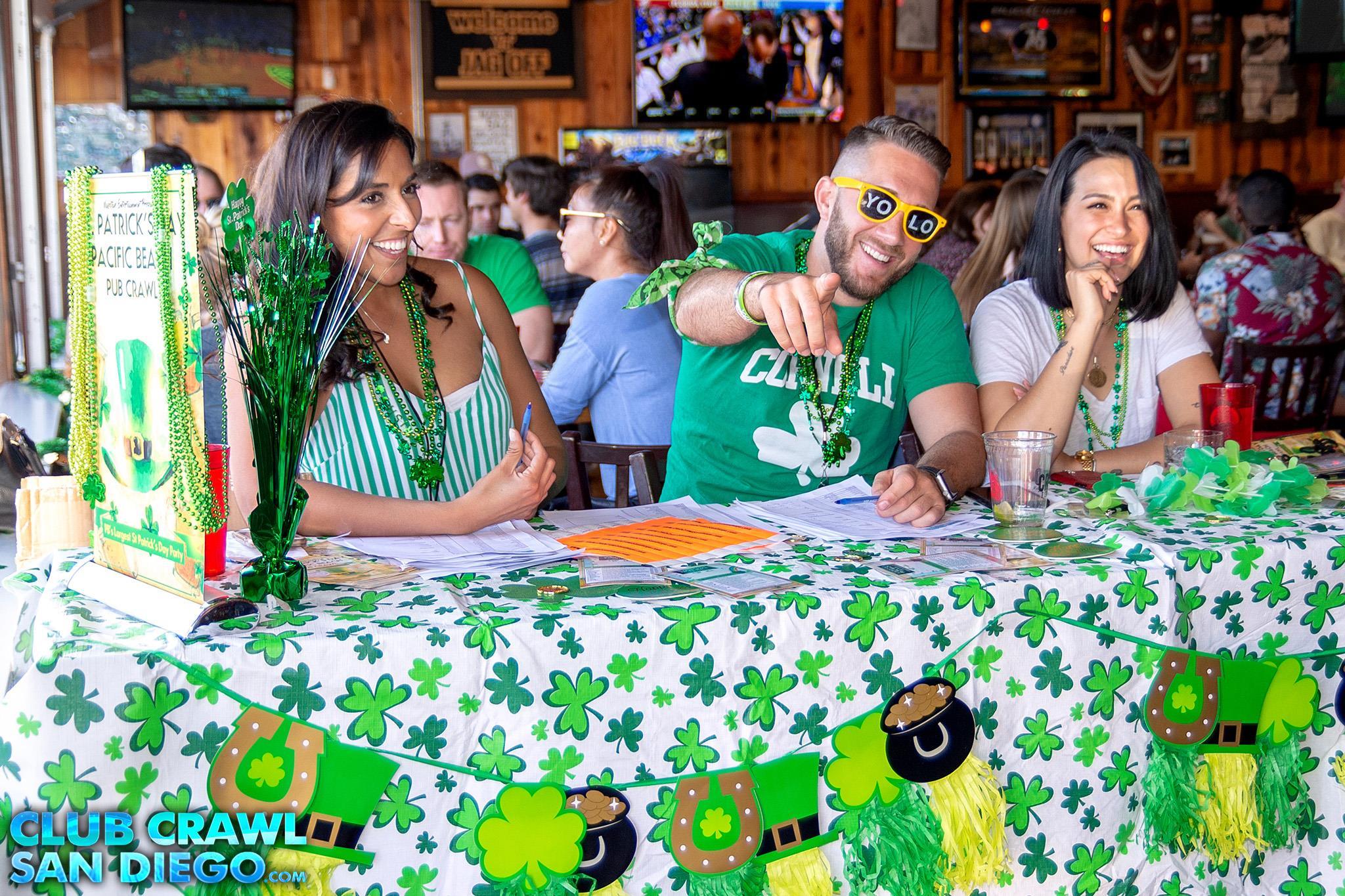 Daytime Pub Crawl Event on St. Patrick's Day