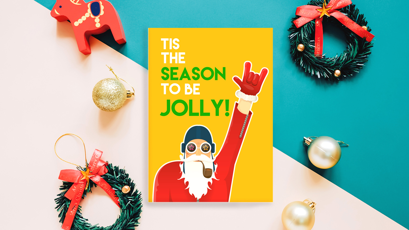 """Tis the season to be jolly"" christmas card"