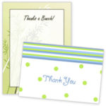 A set of thank you cards.