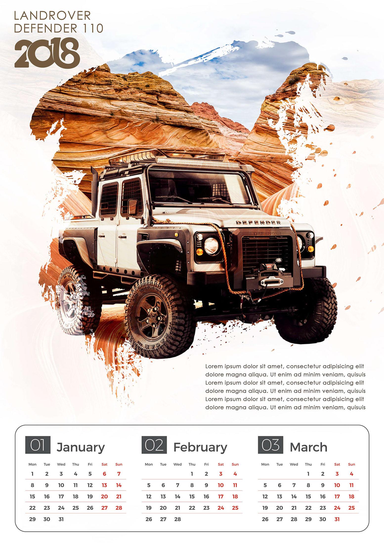 Product Calendar Concept