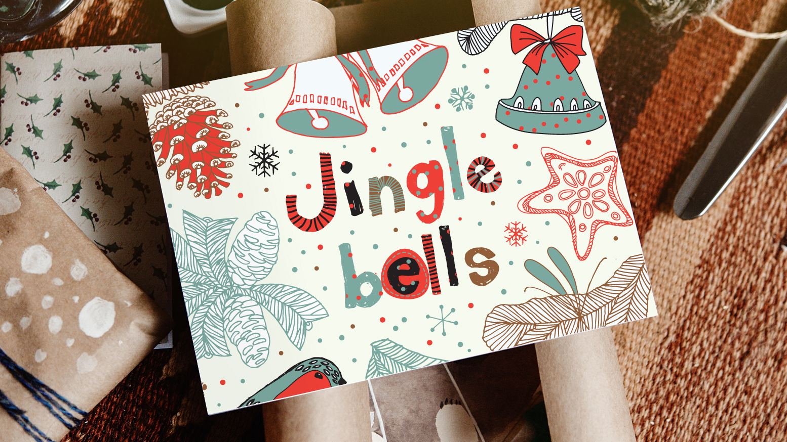 """Jingle Bells"" holiday card"