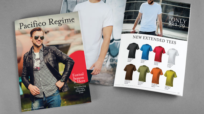 Collection of print catalogs for apparel