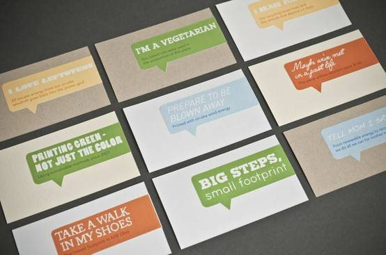 Clean business cards - 12