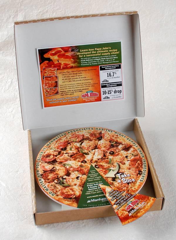Papa John's webinar coupon direct mail marketing ideas