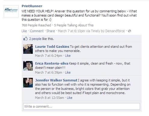 PrintRunner Facebook Page