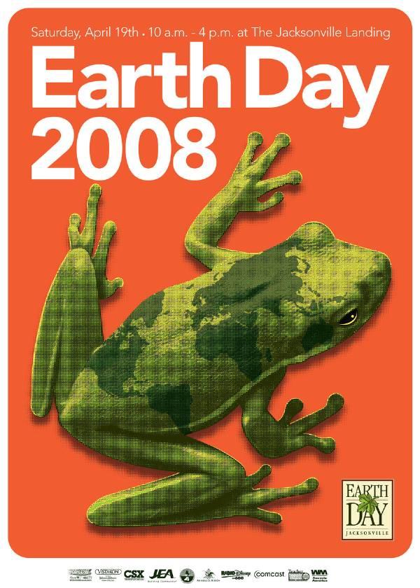 Earth Day Jacksonville 2008 Poster Art