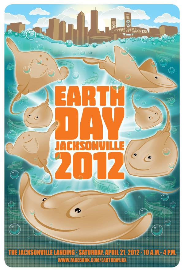 Earth Day Jacksonville 2012 Poster Art