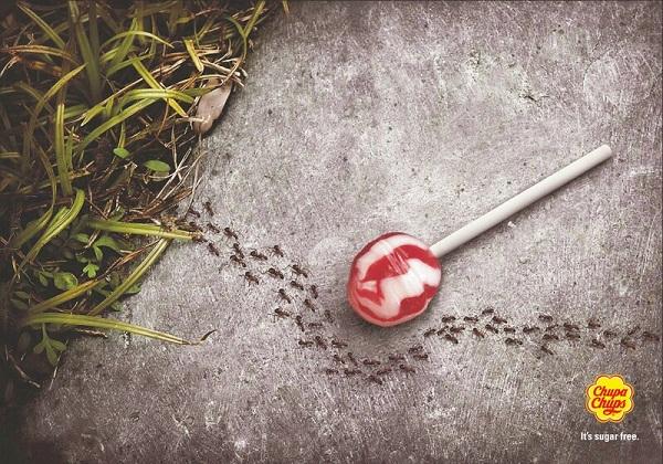 Poster Design - Chupa Chups Sugar Free